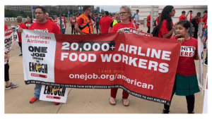 Better Wages and Health Coverage Demanded by Airline Catering Workers